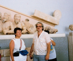 In the Parthenon museum