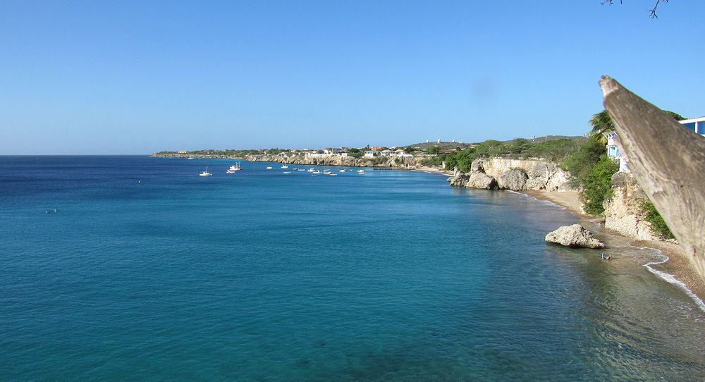 A view up the west side of Curacao