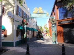 The quaint shopping area in Philipsburg